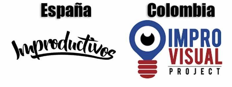 España y Colombia unidas por la impro